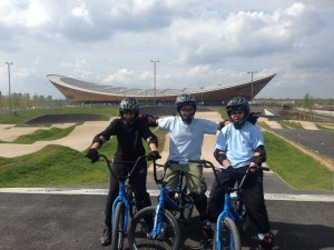 Uzair, Adam and Mohammed Amaan (year 9) TBS's very own BMX stuntmen