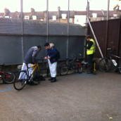 Pupils get their Bikes Fixed