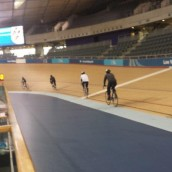 Pupils take part in Track Cycling at the Velodrome