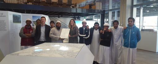 Visit to Here East by Hackney school group