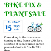 Bike and plant sale on Stoke Newington Common