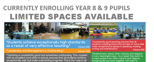 Currently Enrolling Year 8 & 9 Pupils
