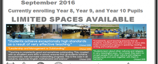 Currently Enrolling Year 7,8,9 &10 students