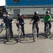 Year 7 take part in Mountain Biking and Canoeing in PE
